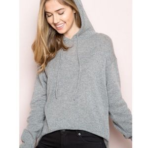 Brandy Melville gray hooded sweater